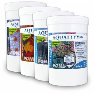 Gartenteich Herbst & Winter Komplett SPAR-SET (4 Produkte zur Überwinterung: 1. Herbst- & Winterschutz - 2. Teichschutzsalz - 3. AQUABALLS - GRATIS: