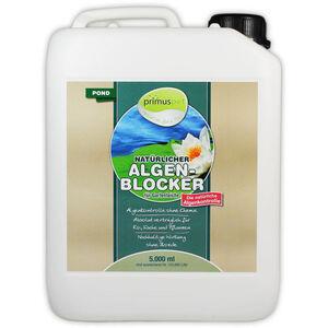 primuspet Natürlicher Algen-Blocker POND (Algenkontrolle ohne Chemie. Wirkt auf natürliche Weise zur Verringerung von Algen im Gartenteich) 5 Liter