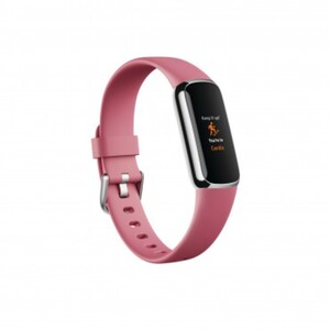 Fitbit Fitnessarmband Luxe platinum cranberry