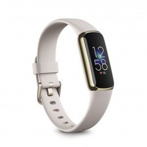 Fitbit Fitnessarmband Luxe yellow gold und porcel