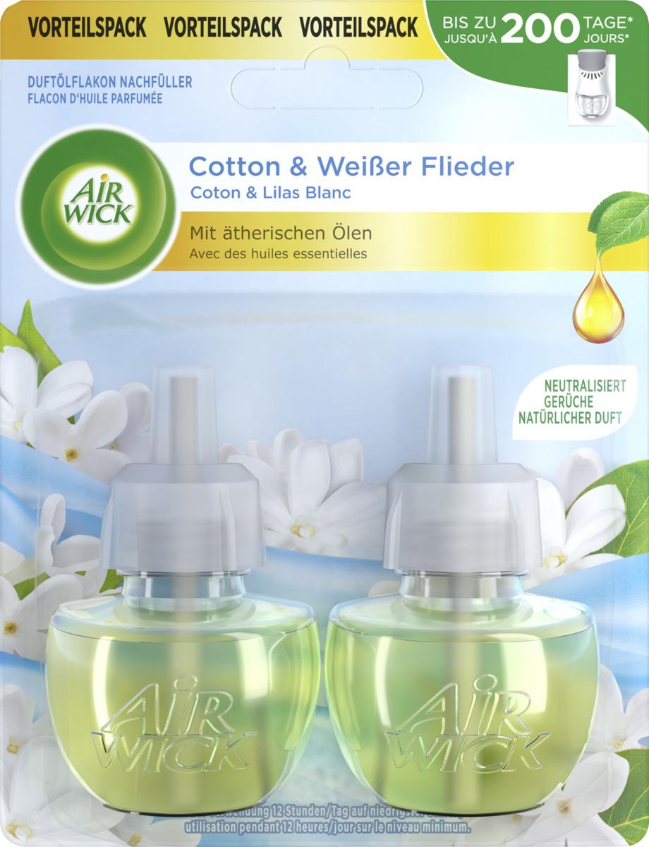 Bild 1 von Air Wick Duftölflakon Nachfüller Duo Cotton & Weißer Flieder