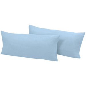 Dreamtex Jersey-Kissenbezüge, je ca. 40 x 80 cm - Hellblau, 2er-Set