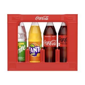 Coca-Cola*, Fanta oder Sprite (*koffeinhaltig),˜ versch. Sorten, 12 x 1 Liter, jeder Kasten (+ 3,30 Pfand)˜