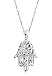 Elli Kette mit Anhänger Hamsa Hand der Fatima Spirituell 925 Silber