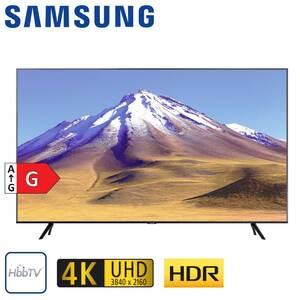 GU75TU6979 • 2 x HDMI, USB, CI+ • integr. Kabel-, Sat- und DVB-T2-Receiver • Maße: H 95,8 x B 167,2 x T 6 cm • Energie-Effizienz G (Spektrum A bis G) nach neuer Verordnung, Bildschirmdia