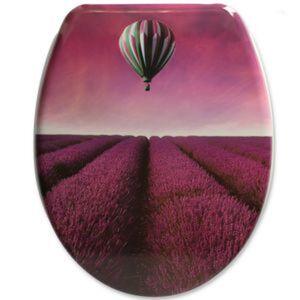 WC-Sitz 'Flieder' mit Absenkautomatik, violett