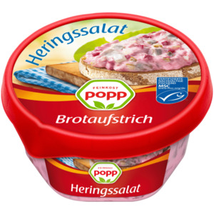 Popp Brotaufstrich Heringssalat rot 150g
