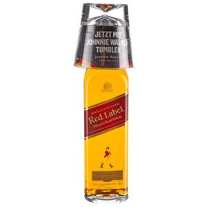 Johnnie Walker Red Label 40% 0,7L mit Tumbler