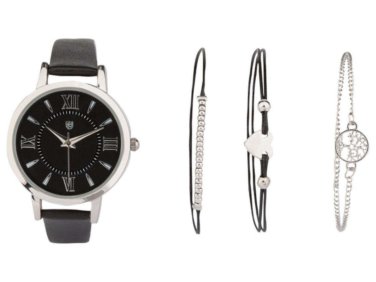 Bild 2 von AURIOL® Damen Armbanduhren mit Schmuckarmband Geschenkset
