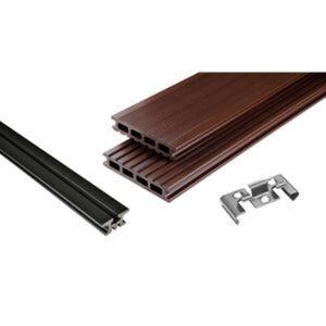 Terrassendielenpaket 'Kovalex' WPC 390 x 400 cm schoko