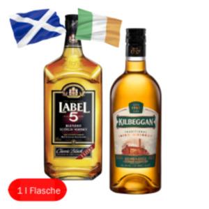 Kilbeggan Finest Irish Whiskey oder Label 5 Scotch Whisky