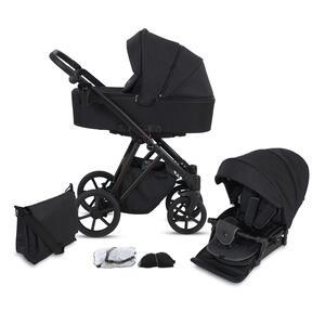 Kinderwagenset Luzon Black Edition, 11-teilig