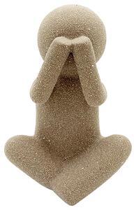 Skulptur Doll aus Steinzeug in Braun