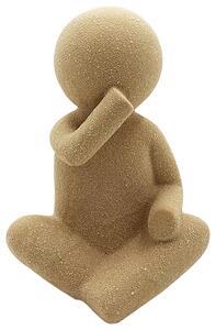 Skulptur Doll aus Steinzeug in Sandfarben