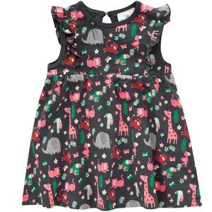 Baby Kleid mit Tier-Allover