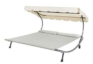 Leco Doppelliege grau/beige - Maße: 200 cm x 200 cm x 110 cm; 39212103