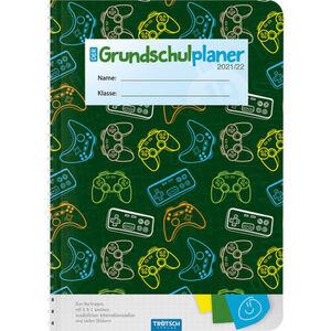 "Grundschulplaner ""Game 21/22"", Din A5, 128 Seiten, Spiralbindung, dunkelgrün/mehrfarbig"