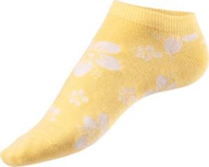 Fascino Sneaker mit Blumen-Motiv, Gr. 35-38, gelb, weiß