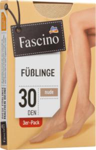 Fascino 3er Pack Füßlinge 30 den, Gr. 39-42, nude