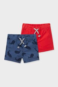 C&A Multipack 2er-Baby-Shorts-Bio-Baumwolle, Rot, Größe: 62