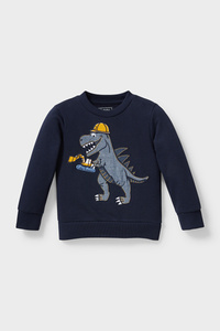 C&A Dino-Sweatshirt-Bio-Baumwolle, Blau, Größe: 98