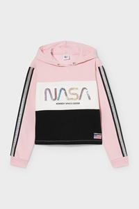 C&A NASA-Sweatshirt-Glanz-Effekt, Rosa, Größe: 134/140