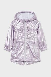 C&A Jacke mit Kapuze-glänzend, Lila, Größe: 92