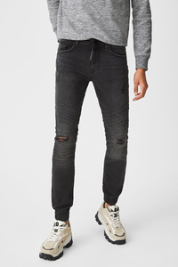 C&A CLOCKHOUSE-Skinny Jeans, Grau, Größe: W33 L34