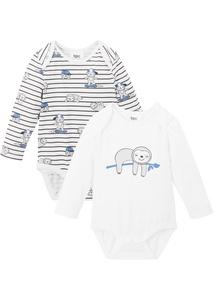 Baby Langarmbody (2er-Pack) Bio-Baumwolle