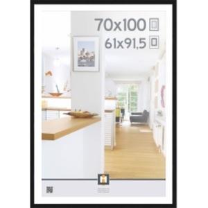 Bilderrahmen GÖTEBORG 70 x 100 cm Holz schwarz