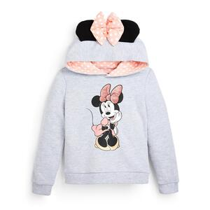 """Grauer """"Disney Minnie Maus"""" Kapuzenpullover mit Schleife (kleine Mädchen)"""