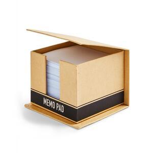 Brauner Notizwürfel aus Karton