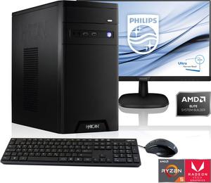 "Hyrican Gaming-PC-Komplettsystem »PC Ryzen 5 3400G 16GB RAM 1TB SSD + 61 cm (24"") TFT«"