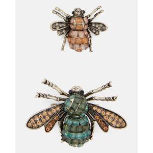 Broschen-Set im Käferdesign