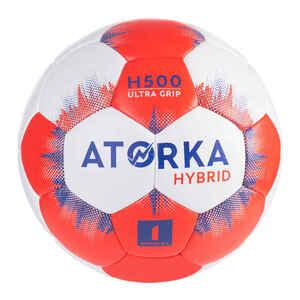Handball Hybrid Größe 1 Kinder grau/rot