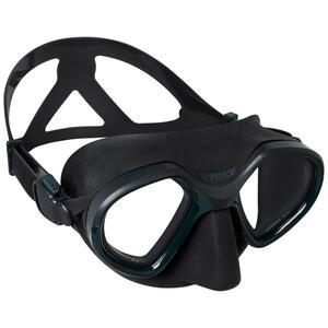 Tauchmaske Freediving SPF 500 Zweiglasmaske Fortgeschrittene Camouflage braun