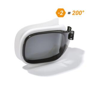 Schwimmbrillen-Glas Stärke -2.00 für Schwimmbrille Selfit Grösse S getönt