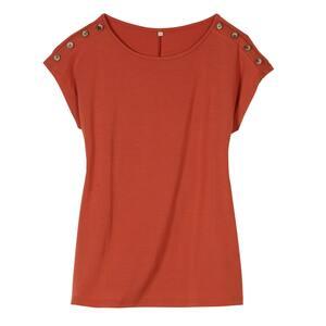 Damen-T-Shirt mit Knopfdetails