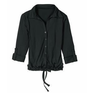 Damen-Jersey-Bluse mit Raffung