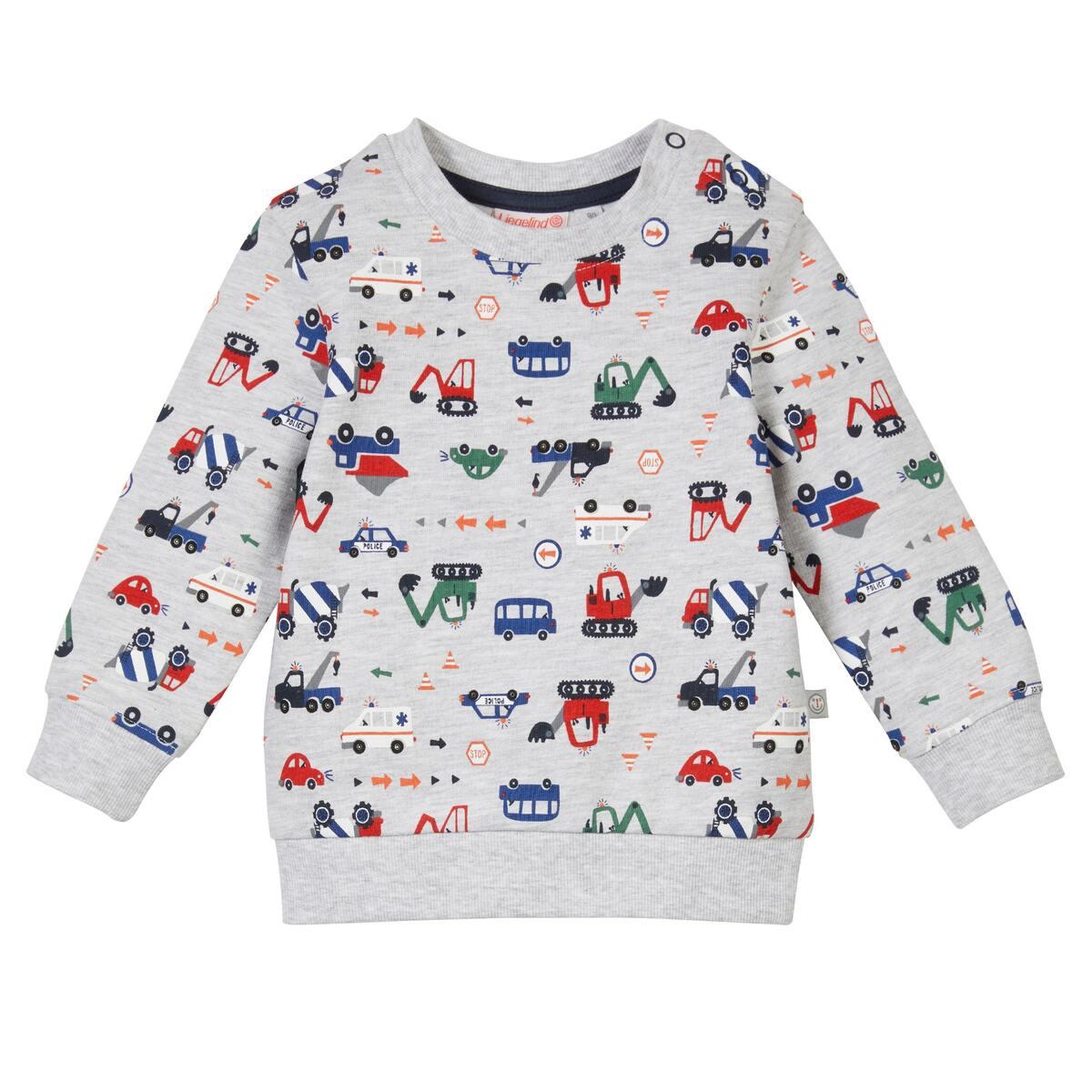 Bild 2 von Baby-Jungen-Sweatshirt mit Fahrzeug-Design