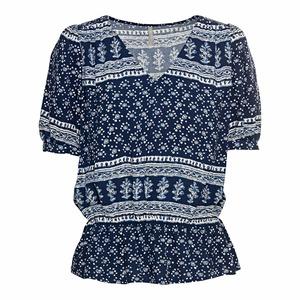Damen-Bluse mit elastischem Bund