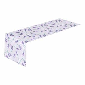 Tischläufer mit traumhaftem Lavendel-Muster, ca. 40x140cm