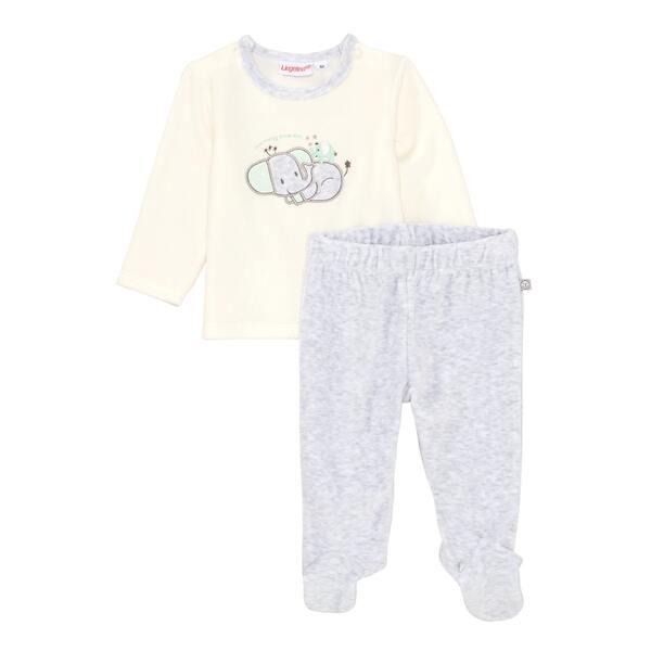 Baby-Set mit Elefanten-Applikation, 2-teilig