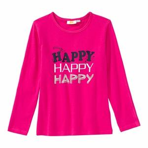 Mädchen-Shirt mit glitzerndem Schriftzug