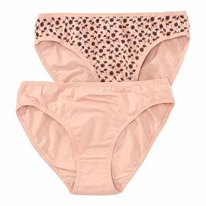 Damen-Minislip mit Pusteblumen-Muster, 2er-Pack