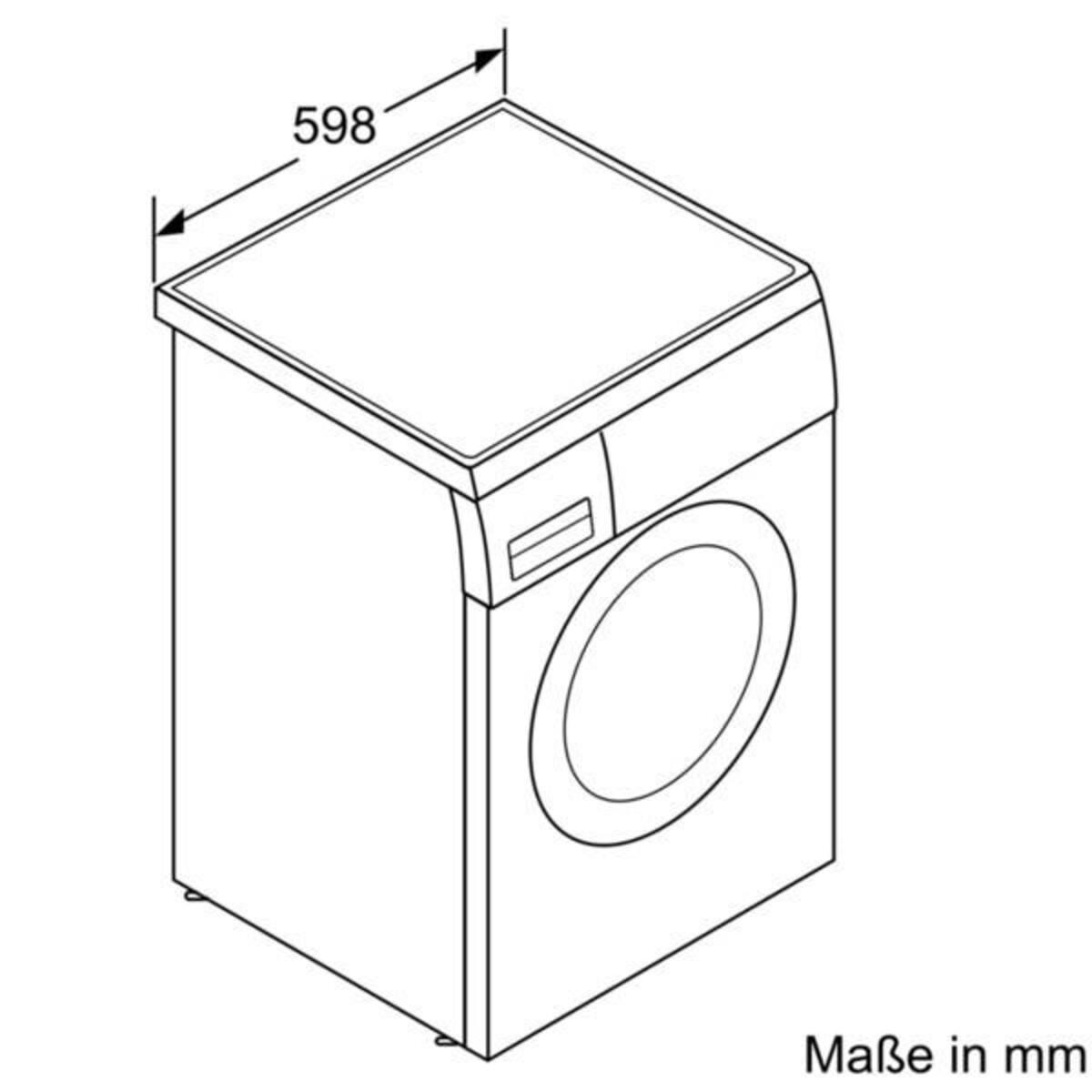 Bild 4 von SIEMENS WU14UT70EX Waschmaschine (Frontlader, freistehend, unterbaufähig, C, 9 kg, 1400 U/min, iQdrive, iSensoric, Nachlegefunktion)