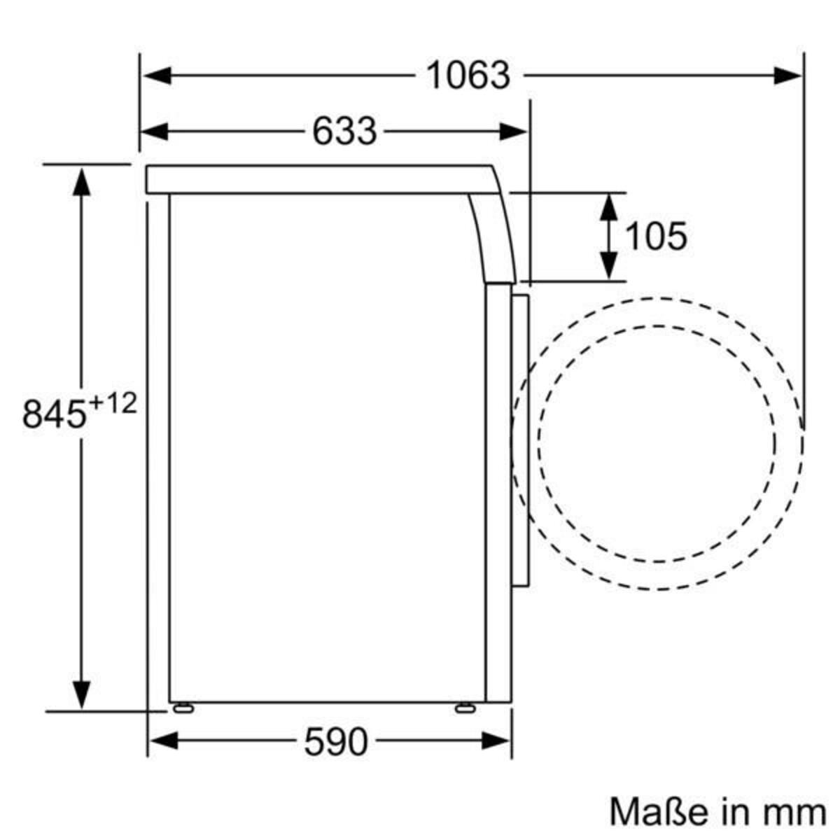 Bild 5 von SIEMENS WU14UT70EX Waschmaschine (Frontlader, freistehend, unterbaufähig, C, 9 kg, 1400 U/min, iQdrive, iSensoric, Nachlegefunktion)