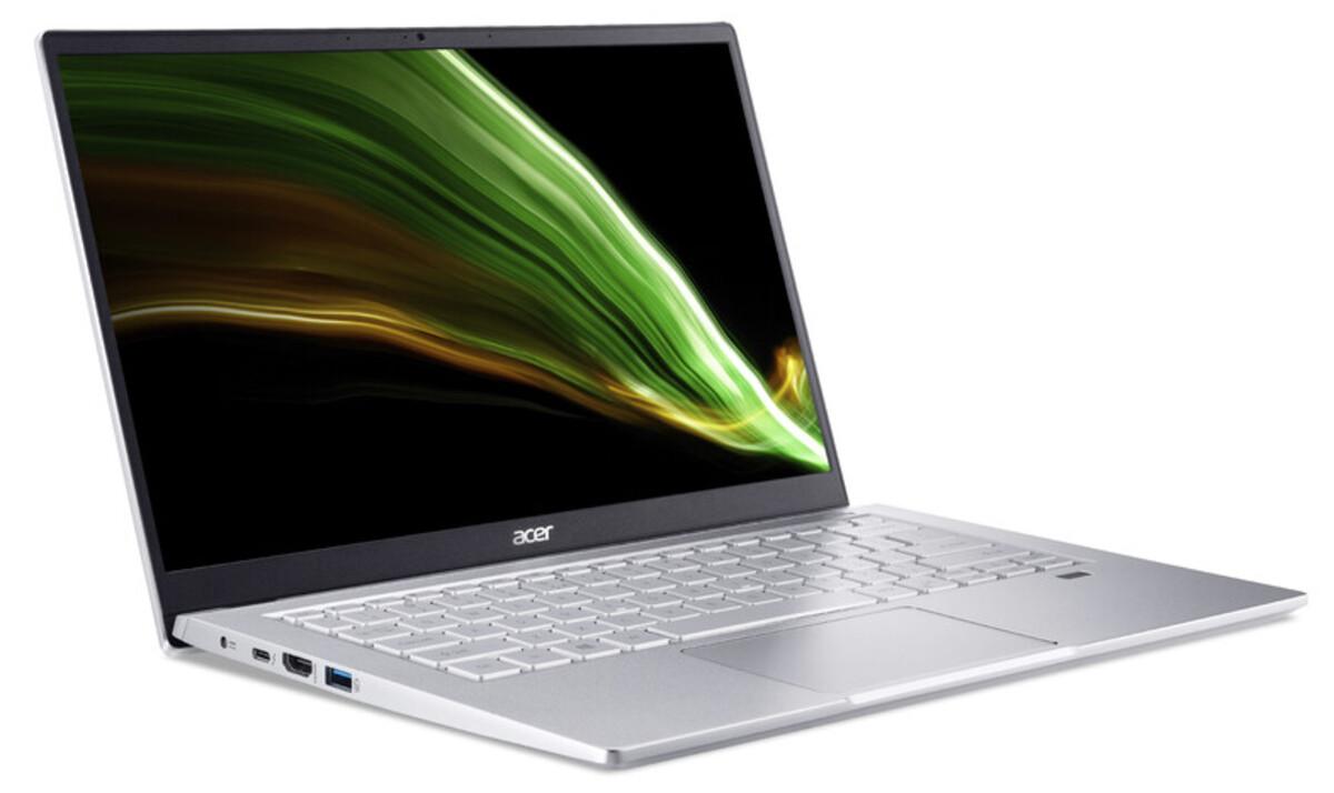 Bild 2 von ACER Swift 3 (SF314-511-57DJ) Notebook (14 Zoll Full-HD IPS (matt), Intel® Core™ i5-1135G7, 16 GB RAM, 512 GB SSD, Intel Iris Xe Grafik, Windows 10 Home, Fingerprint)