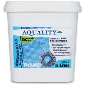 AQUALITY Gartenteich AQUABALLS Starterbakterien (Optimale Dosierung - Millionen effektive Mikroorganismen und nützliche Starterbakterien) 5 Liter