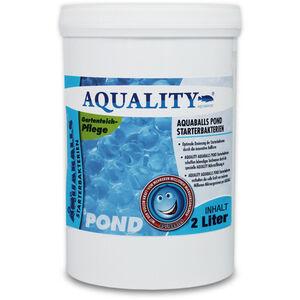 AQUALITY Gartenteich AQUABALLS Starterbakterien (Optimale Dosierung - Millionen effektive Mikroorganismen und nützliche Starterbakterien) 2 Liter